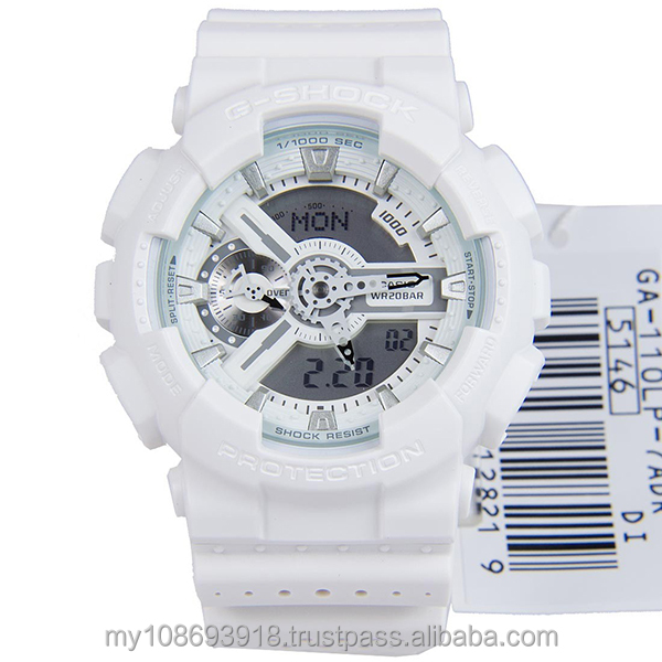 GA-110LP-7A Standart Digital White Resin Strap Mens Watch