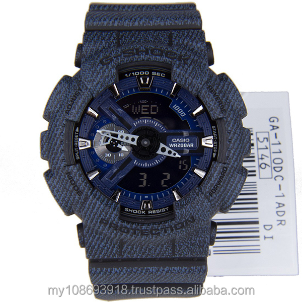 GA-110DC-1A Dark Blue Denim Design Mens Watch