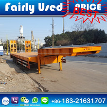 Used 60 tons Lowbed Trailer 3 Axles Low Bed Semi Trailer for sale
