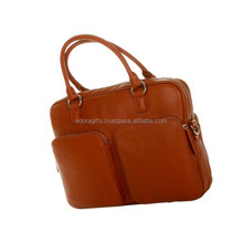 Customized high quality real leather laptop bags for ladies & girls