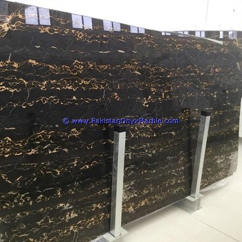 ELEGANCE BLACK AND GOLD (MICHAELANGELO) MARBLE SLABS
