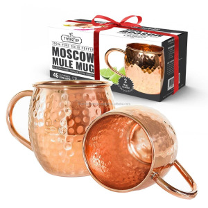 Manufacturer high quality moscow mule mug pure copper mug for promotional gifts