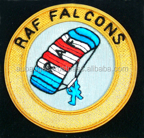 Hand Made Bullion Wire RAF Falcons