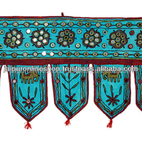 Ethnic Embroidery mirror work Door Hanging Toran Bandhanwar