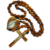 Olive Wood Rosaries From Jerusalem