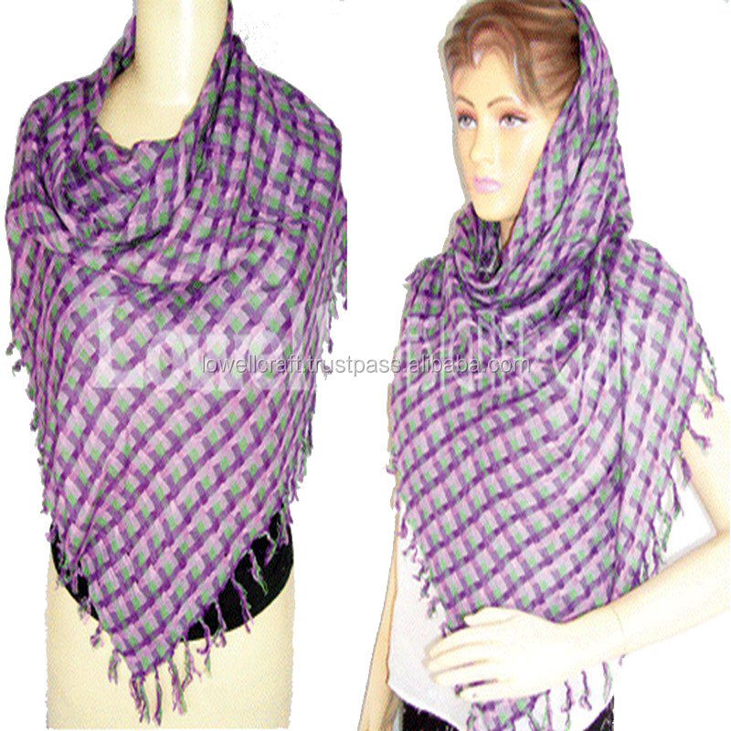 KNITTED SCARF/VISCOSE SCARF