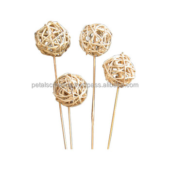 Air freshener Natural decorative lata ball with rattan reed stick