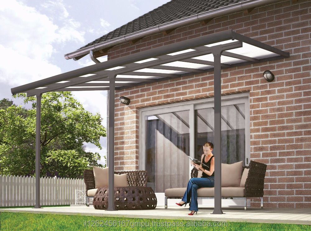 PALRAM Feria patio cover 3X4.25 meter Grey - Clear
