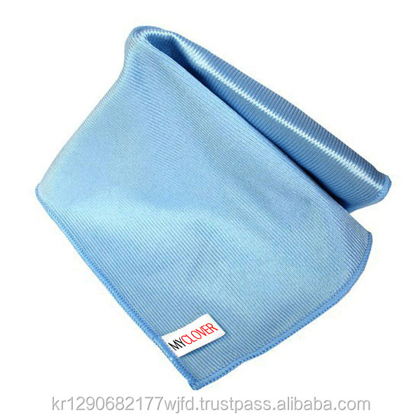 microfiber glass window mirror cleaning cloth of myclover in SOUTH KOREA car window drying towel lint free non WATER MARK