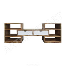 Solid Mango Wood Extendable and Moving TV Unit, Hard Wood Furniture, Solid Wood Indian Furniture Supplier & Manufacturer