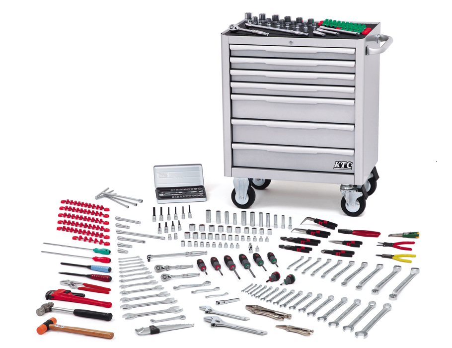 Tool box case with 212 pcs items