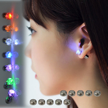 LED Earrings Light Up Crown Shaped fashion Shiny Studs flashing earrings many color for your choose