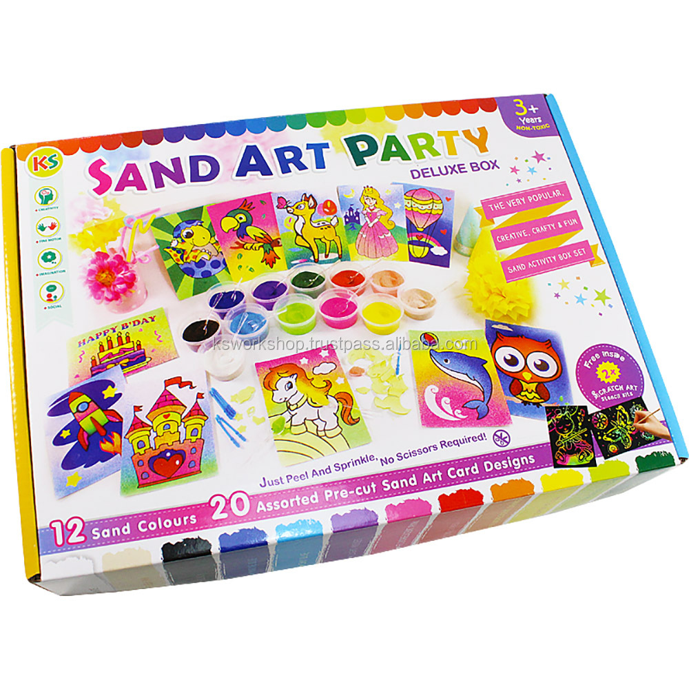 Sand Art Party Pack Deluxe Box
