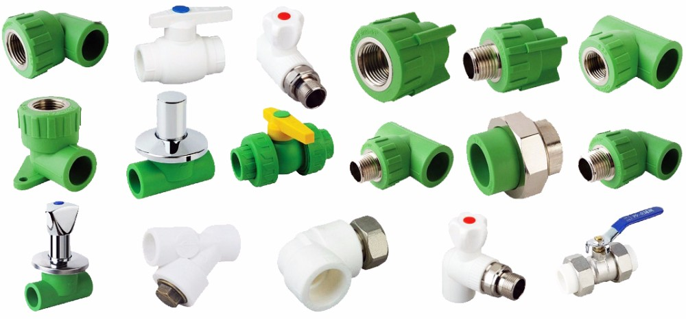 Water supply pipe fittings color equal tee PPR for cold and hot water