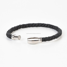 Leather Cuff Hand Braided Bracelet