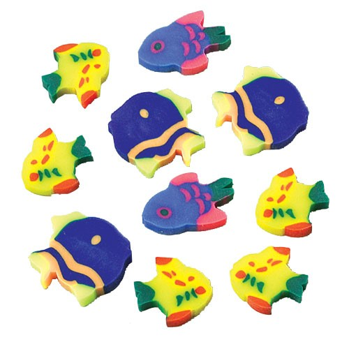 MINI FISH ERASERS (SOLD BY GROSS) #LM53