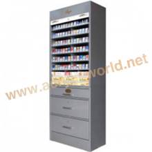 cigarette display stand with pusher/cigarette display shelf /cigarette display cabinets for sales