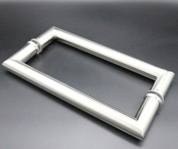 Stainless steel fancy style shower meeting room mirror satin finish glass door handle