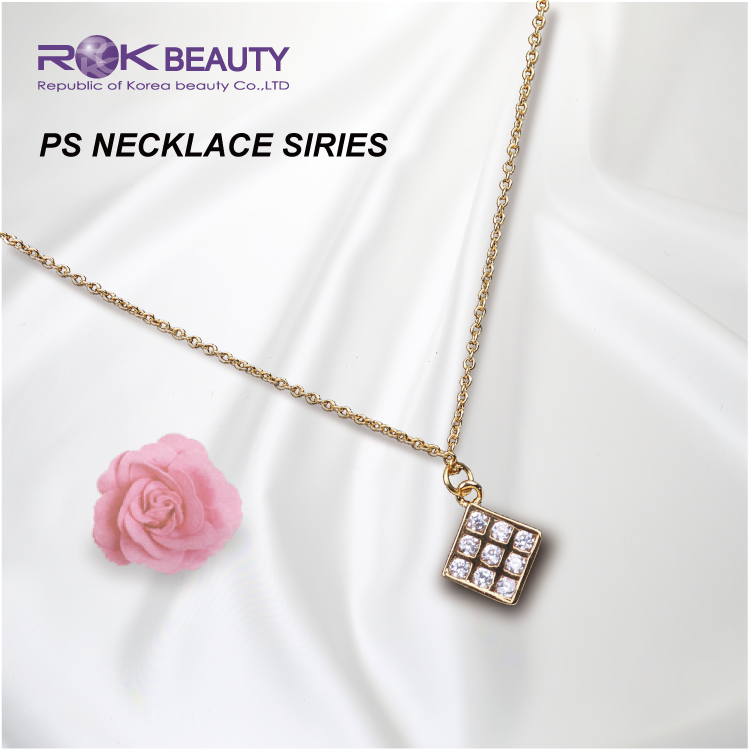 PS 1-12 ROK KOREA 18K GOLD PLATING WOMEN NECKLACE JEWELRY