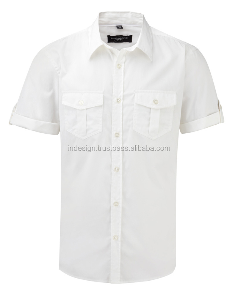 men's uniform shirt short sleeve