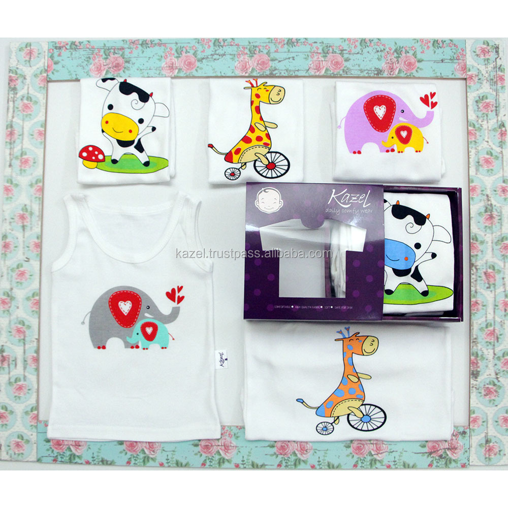 Baby Singlet Clothes 100% Cotton Animal Edition | Kazel