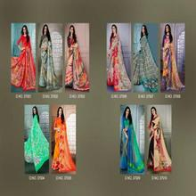 LT Fabrics Vibrant Bemberg Georgette Printed Ready To Wear Dailywear occasionally Sari Saree For Indian Women