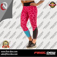 Wholesale women compression yoga tights custom fitness gym workout leggings for women with phone pocket