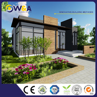 (WAS3505-110S)Low Cost Prefabricated House for Sale of Light Steel Luxury Prefab Villa Price
