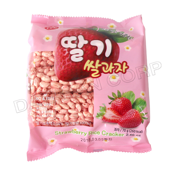Strawberry Rice Cracker