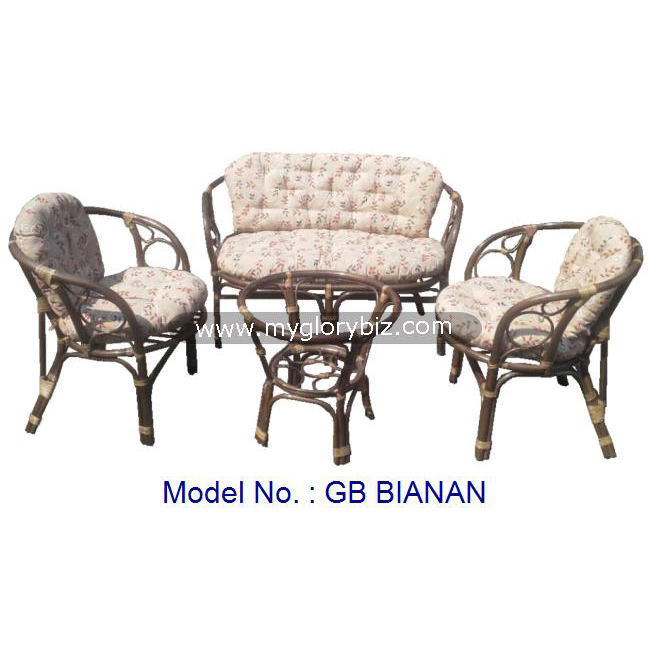 Classic Rattan Sofa Set Armchair Furniture With Table For Living Room, antique design rattan living room sofa set furniture