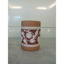 Ceramic Flower Stationery Pot Case Pottery