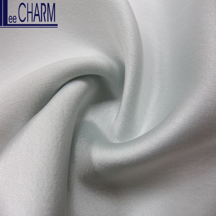 LCL005 High Quality Polyester Draped Sateen Fabric