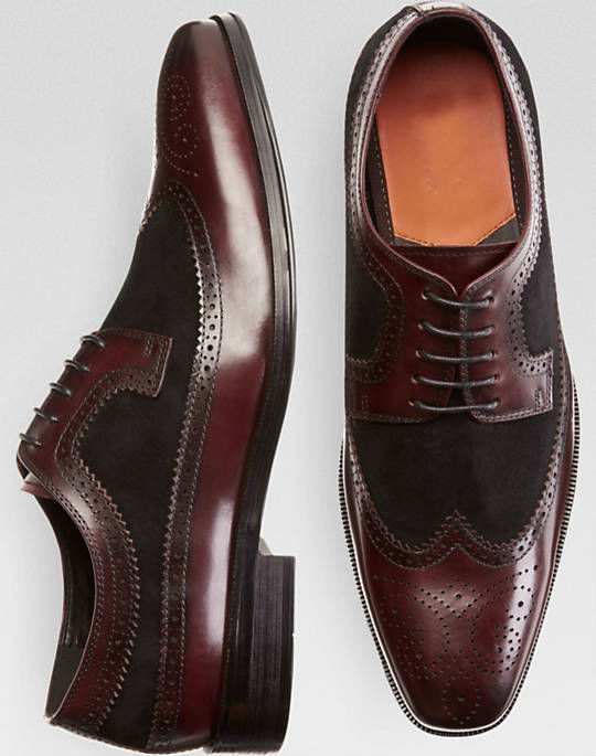 Italian brand fashion men dress shoes genuine leather red lace formal