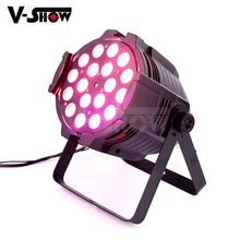 Vshow Stage Wash PAR Stage Light With Zoom RGBWA-UV 18W*18 LED Wash light DMX Par Can <strong>w</strong>/zoom