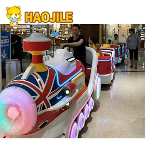 Shopping mall kids electric trackless train ride indoor outdoor