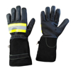 Long Cuff Fire Fighting Gloves / flame retardant Gloves / customized fire resistant gloves