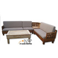 Available Living room Fabric Furniture Wooden sofa made in indonesia