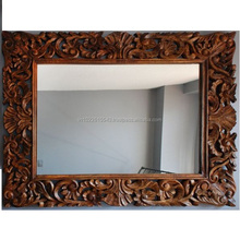 wood carved wall mirror frames