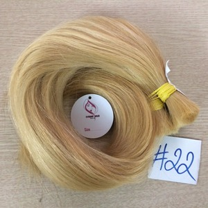 No #22 Blonde color Bulk Straight hair, Super double drawn, Vietnamese and Cambodia hair
