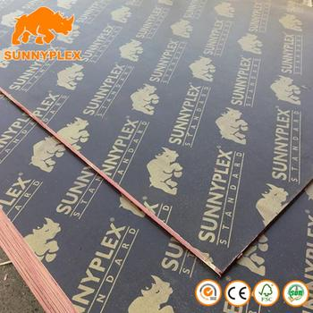 Construction 18mm Laminated plywood/construction concrete form plywood board