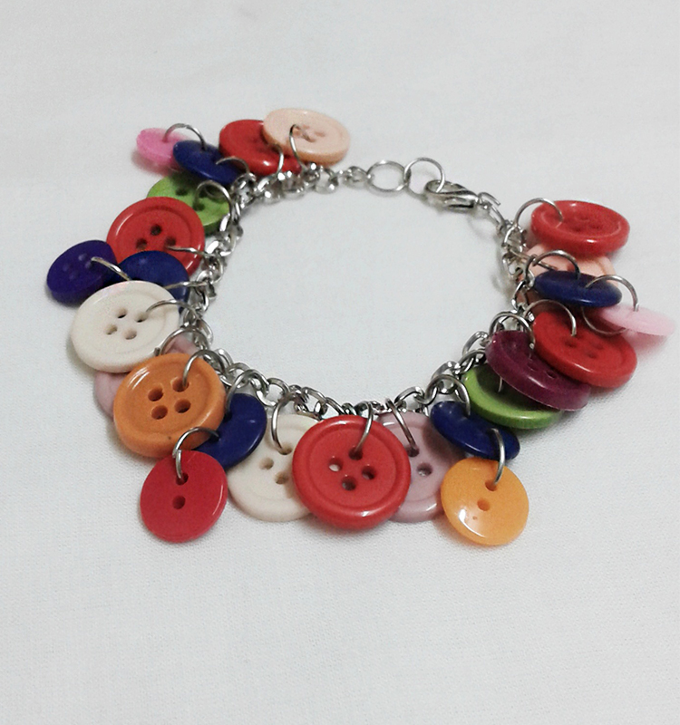 Simple and Trendy Jewelry, Button Bracelet for Girls and Women