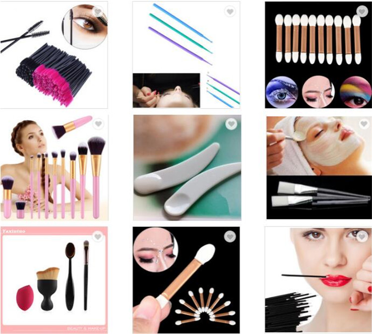 Groothandel 50 stks/zak Make Cosmetische Lippenstift Gloss Brush Applicator Wegwerp Lip Borstel