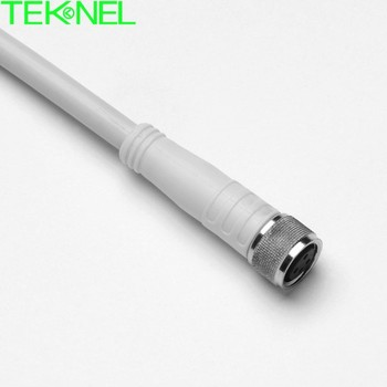 M8 female molded cable connector, 2P, 3P, 4P circular waterproof connector