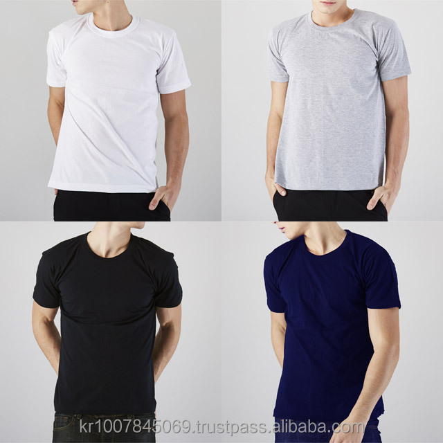 Wholesale Short-sleeve Cotton High Quality Unisex T Shirt Solid Round neck t-shirt tee