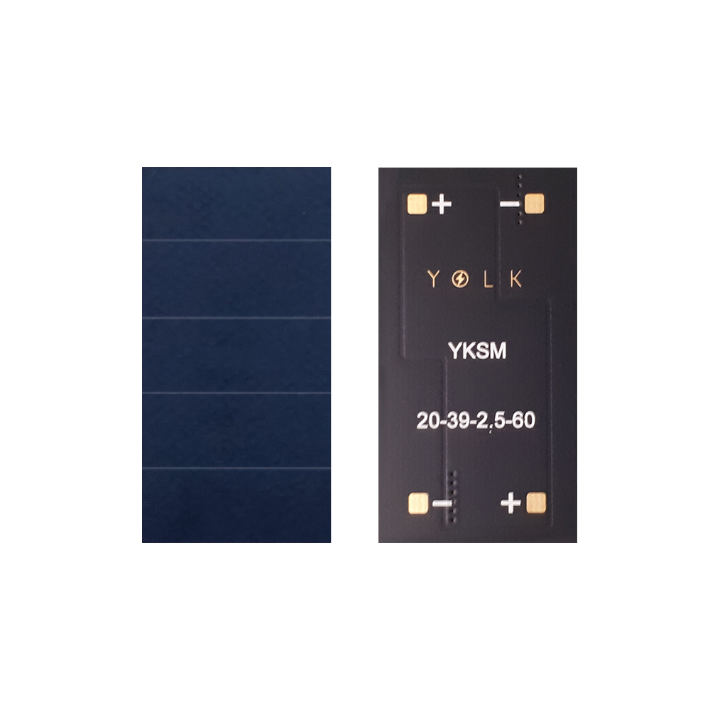 High efficiency monocrystalline mini solar panel for BLE, IoT, beacon, wearable, home security (17) YKSM 20mm-39mm-2.5V-60mA