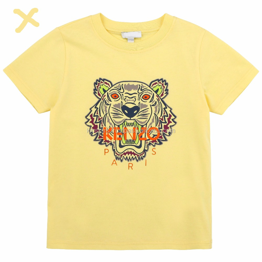 Trending Custom Tiger Printed T Shirts for Kids
