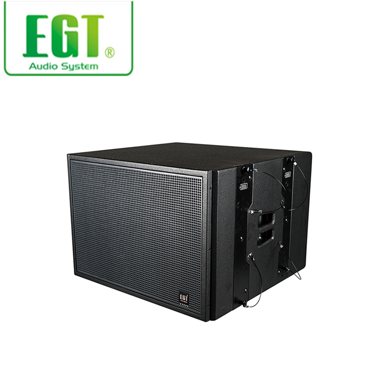 Large powerful full range 400W maple plywood enclosure passive line array subwoofer speaker