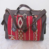 Handmade Genuine Leather and Kilim Weekender Duffel Bag