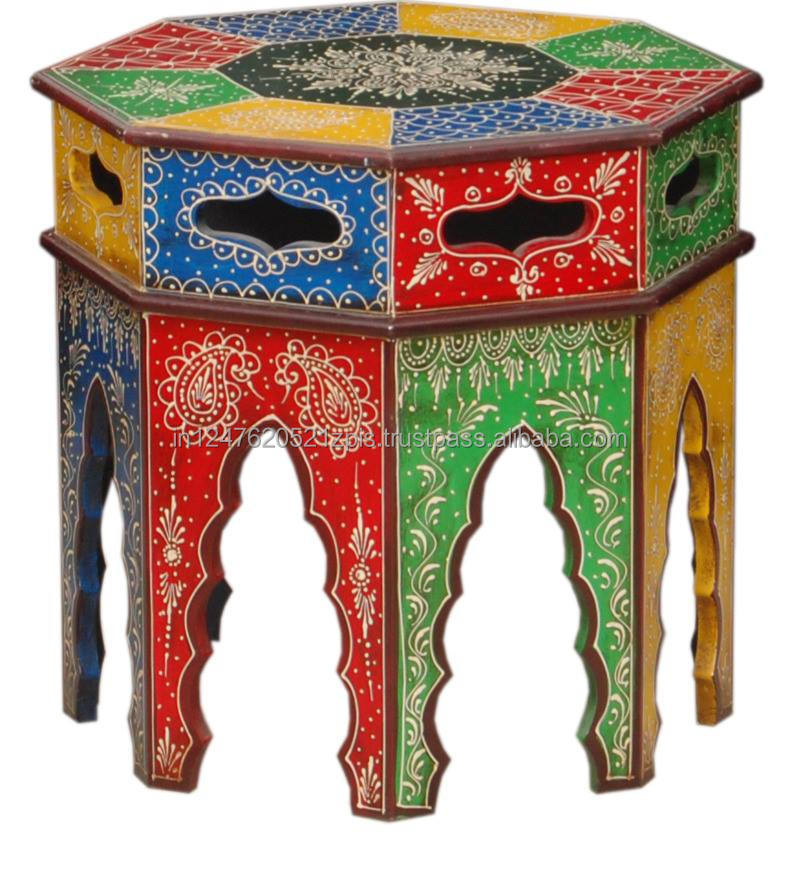 Indian Rajasthani hand Painting stool