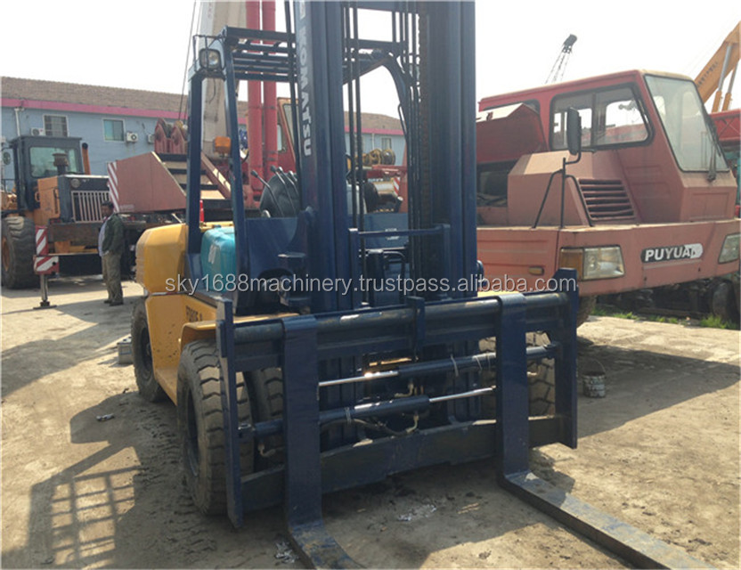 Original komatsu 8t forklift japan made condition/ cheap price forklifts 8t. fd80 forklift